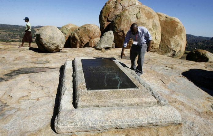 Grave site of Cecil John Rhodes.