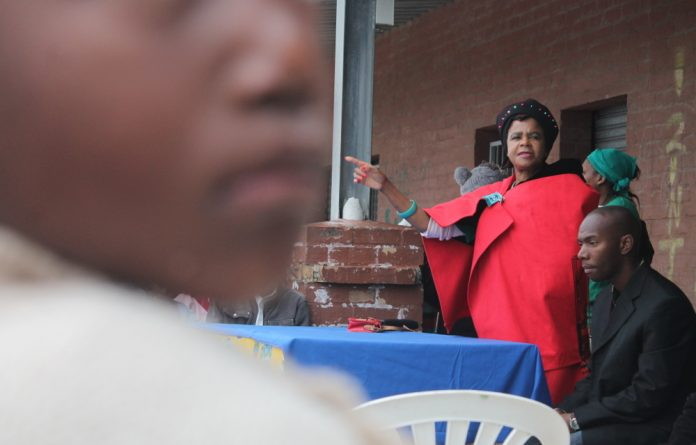 Mamphela Ramphele at a gathering in Khayelitsha on Youth Day.