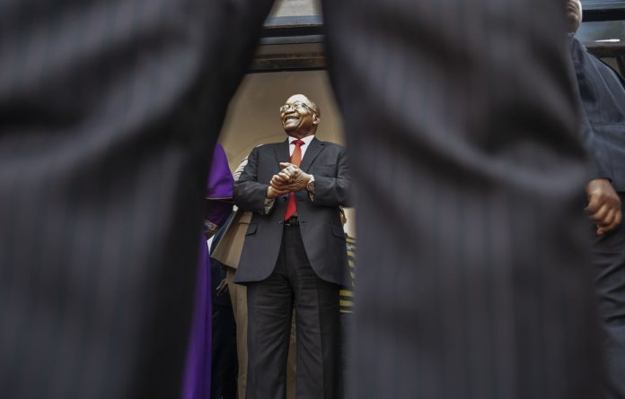 Ex-president Jacob Zuma appeared in court on April 6 on corruption charges dating back to the 1990s arms deal.