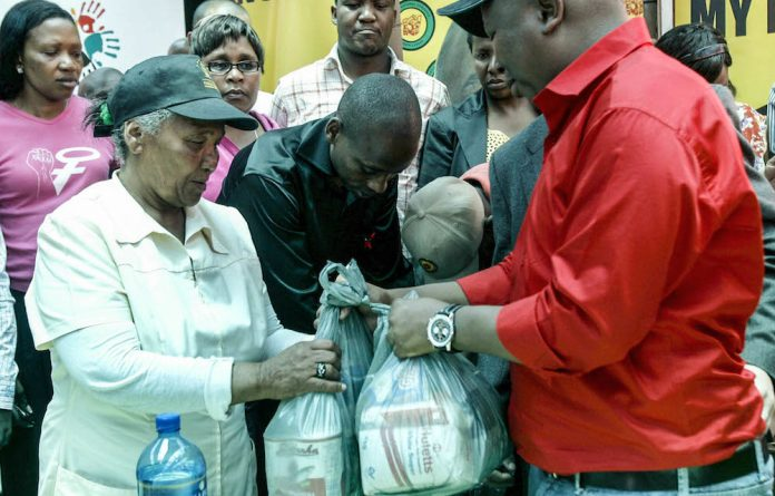 Julius Malema handed out food parcels to poor voters when he was the leader of the AC Youth League. Public Protector Thuli Madonsela has found this an abuse of state funds.