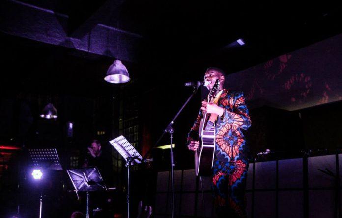 Falsetto singer Bongeziwe Mabandla.