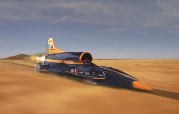 Blink and you'll miss it: Andy Green will attempt to break the land-speed record in the supersonic Bloodhound.