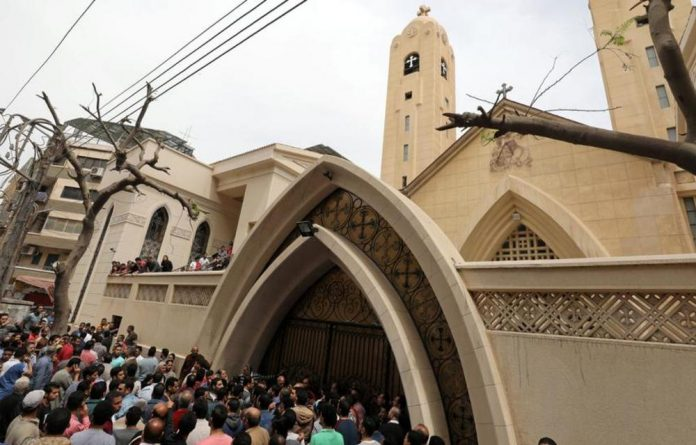 In the Nile Delta two churches were attacked by suicide bombers.