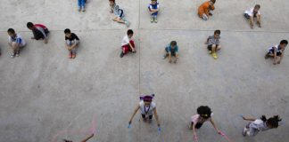 Children must be encouraged to stay fit and active