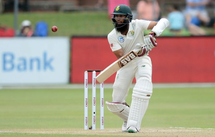 Bungling the basics: Hashim Amla struggled for form in the Proteas' Test on home soil against Sri Lanka last week.
