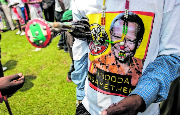 Never-ending: Shenge's still hanging on to the Inkatha Freedom Party. He's being doing so for nearly as long as I have lived. Photo: Oupa Nkosi