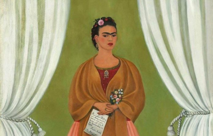 Frida Kahlo's dedication to the communist party is obvious in paintings such as Marxism Will Give Health to the Sick