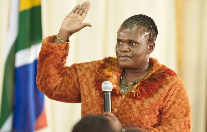 Communications Minister Faith Muthambi.