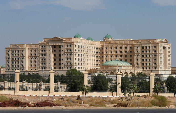 File photo of the Ritz-Carlton hotel in the diplomatic quarter of Riyadh