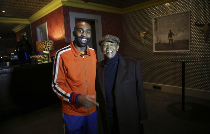 Cross-generational collaboration: Riky Rick and Hugh Masekela.