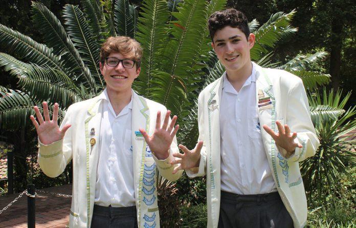 Greg Meyer and Adam Krok of King David High School Linksfield both achieved 10 distinctions.
