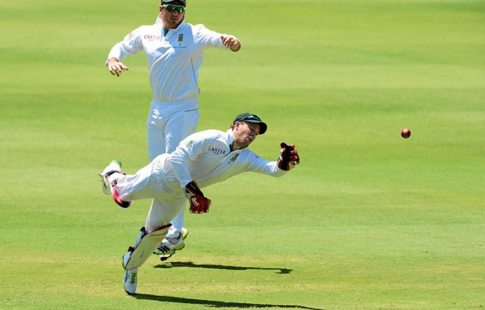 AB de Villiers isn't missing many behind the stumps.