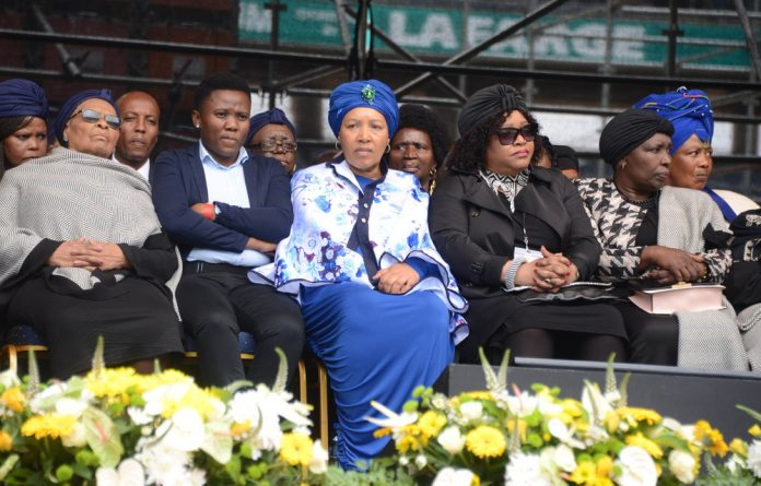 The daughters of anti-apartheid activists Nelson Mandela and Winnie Madikizela- Mandela