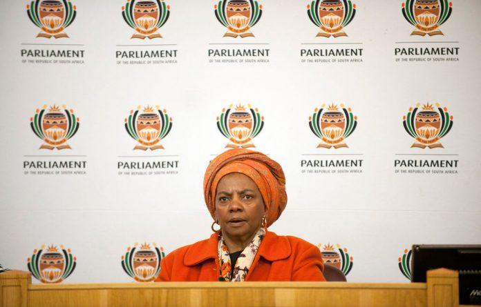 Human Settlements Minister Nomaindia Mfeketo