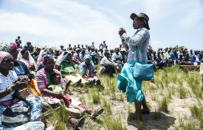 Mine stumped: The tenacity of the Xolobeni community members won them a court decision; government cannot grant mining licences without consulting them first. Photo: Paul Botes