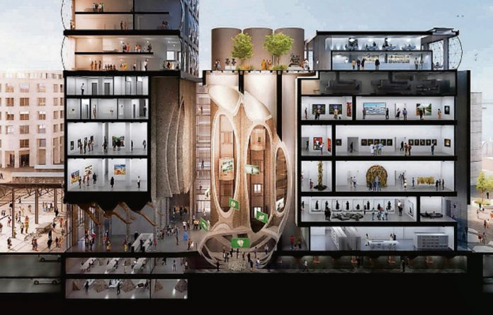 'A machine for culture': Artist's impressions of the design by Thomas Heatherwick for the art museum at the V&A Waterfront in Cape Town.