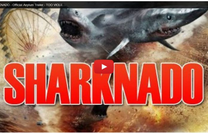 A trailer for 'Sharknado' has been released on YouTube.