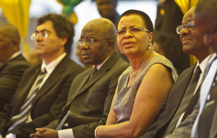 Former South African first lady