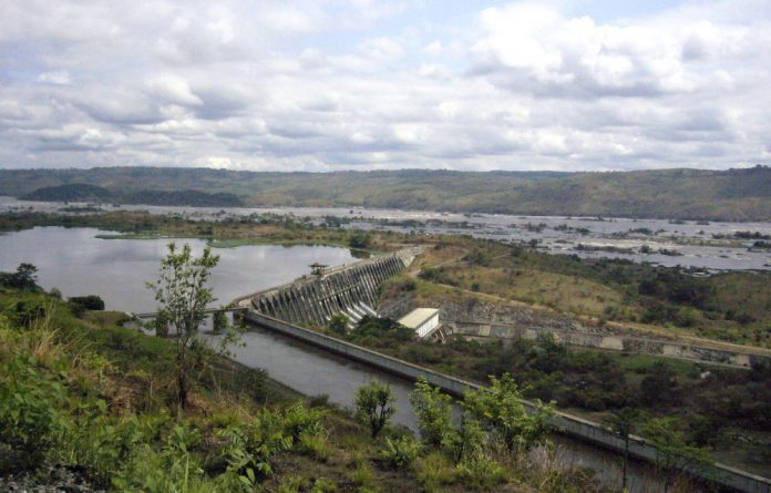 In the works: The Inga dam on the Congo River has been under construction for a decade.The hydroelectric project relies on South African buy-in
