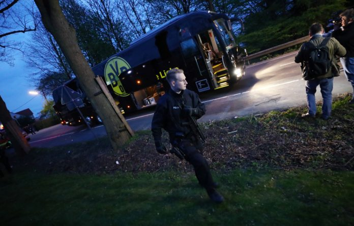 Dortmund police said security would be tightened at Wednesday's match