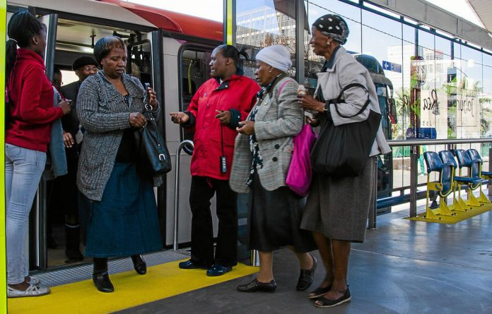 While the bus rapid transport system and the Gautrain enjoy ongoing subsidies