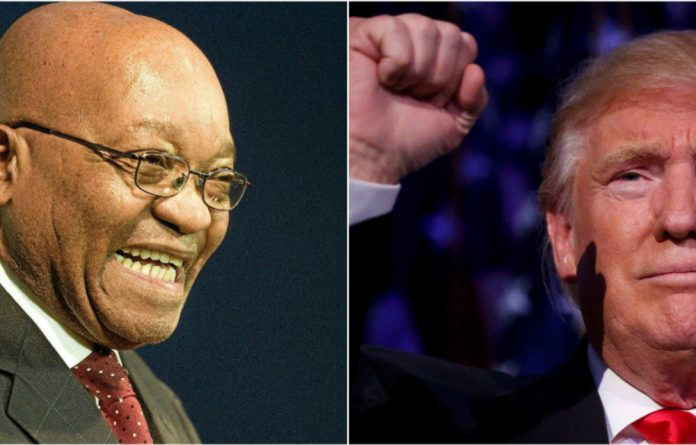 President Jacob Zuma has given his stamp of approval for a Trump presidency.