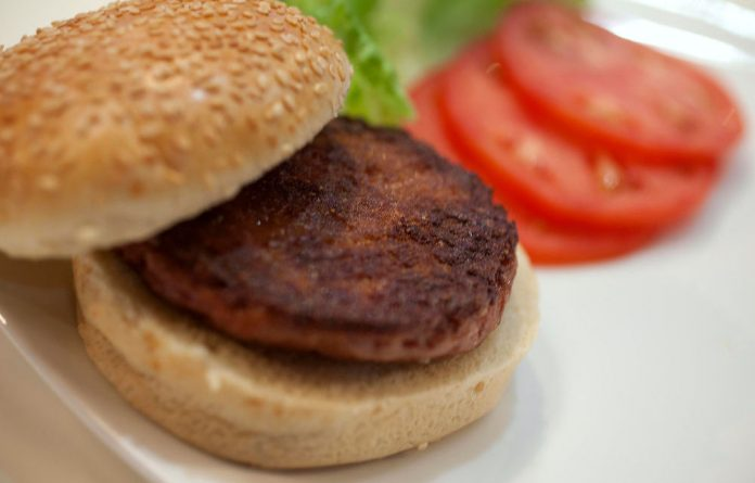 The world's first laboratory-grown beef burger.