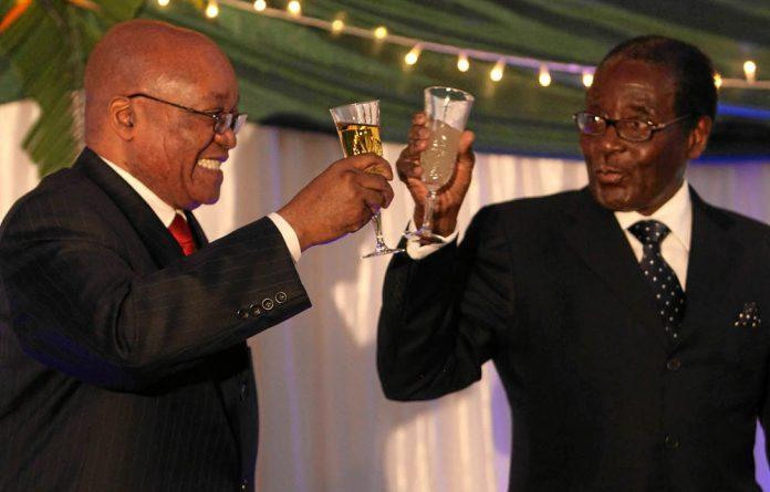 Robert Mugabe and Jacob Zuma.