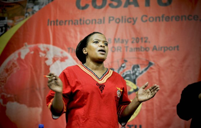 A general secretary from one of Cosatu's affiliates described Losi as 'vocal' and 'articulate'.