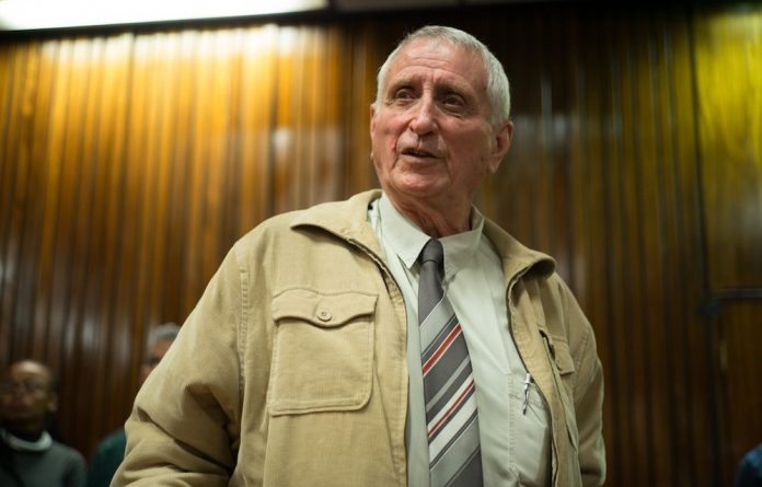 Former sergeant in the apartheid regime's security branch Joao Rodrigues.