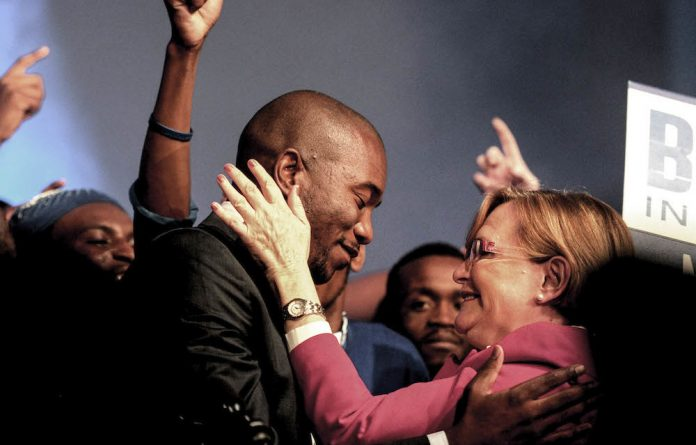 In better times: Newly elected DA leader Mmusi Maimane with Helen Zille at the party's federal conference in May 2015.