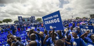 Lone fight: The Democratic Alliance opposed the application for parties to reveal their sources of funding