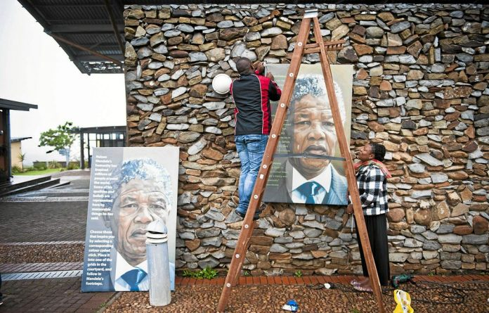 Preparations took place for the funeral of Nelson Mandela.