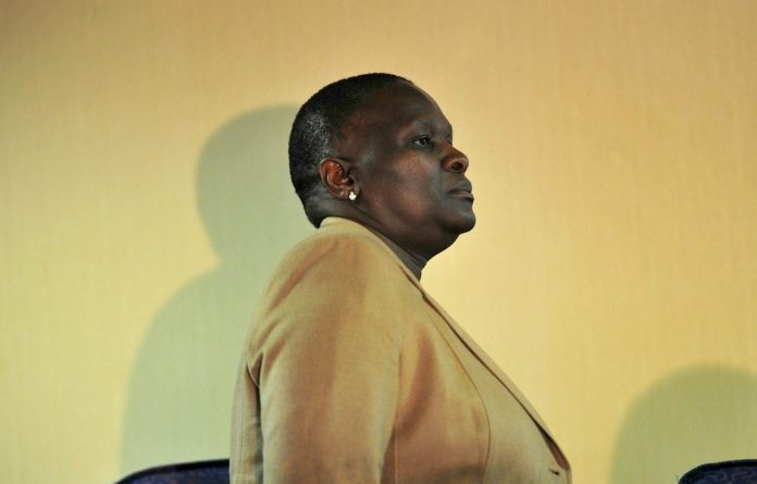 Suspended National Police Commissioner Riah Phiyega during the Claassen Commission of Inquiry in June this year.