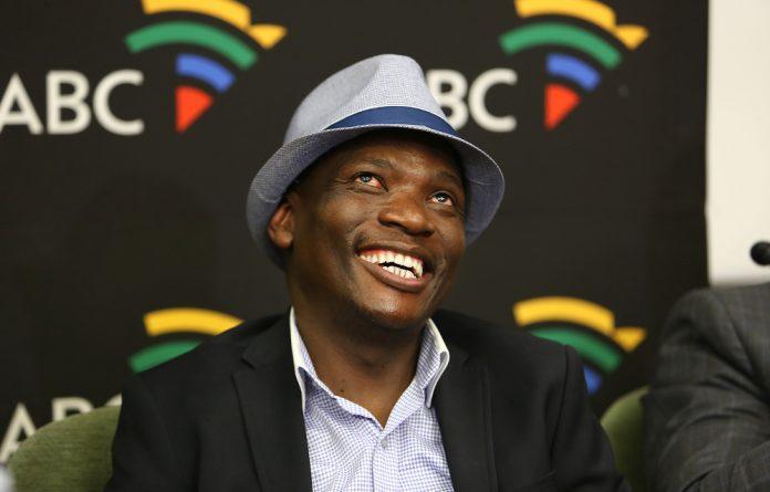 Hlaudi Motsoeneng at the SABC briefing on Tuesday.