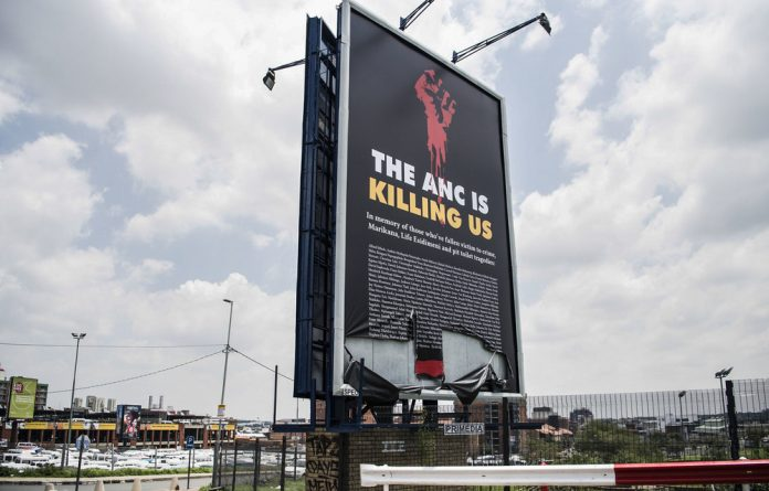 """Controversial: The ANC calls the opposition's latest billboard """"insensitive"""""""