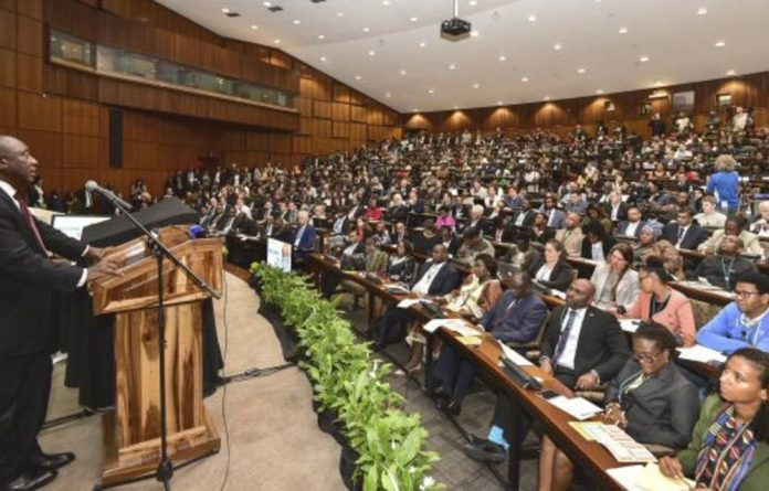 Deputy President Cyril Ramaphosa delivering his opening address at the Third Science Forum South Africa held at CSIR International Convention Centre