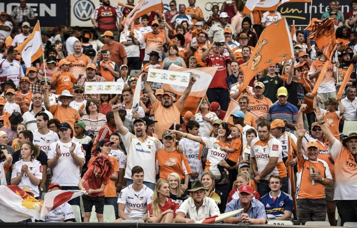 Fan-tastic: The Cheetahs are the Currie Cup defending champions and the game against the Sharks is likely to see them field the strongest possible side.