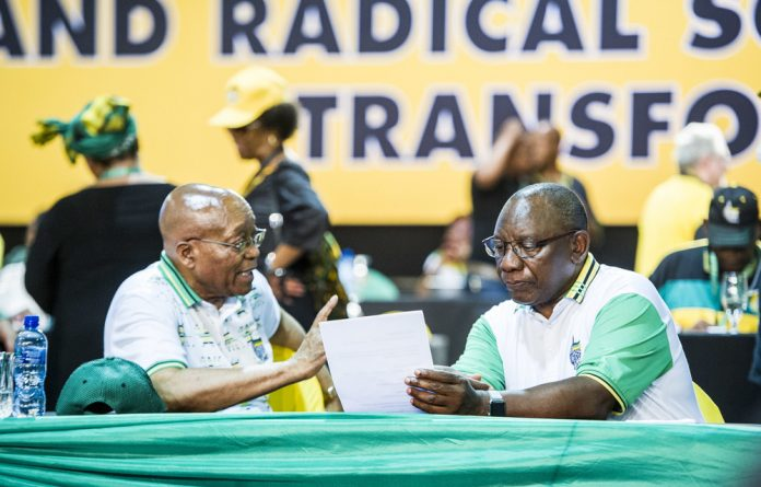 Not going without a fight: President Zuma has ignored calls from within his own party to resign.