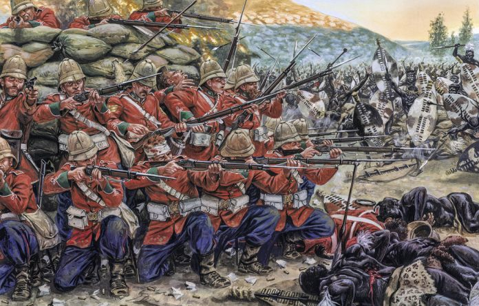 Giuseppe Rava's illustration of the Battle of Rorke's Drift in 1879 is a reminder of how