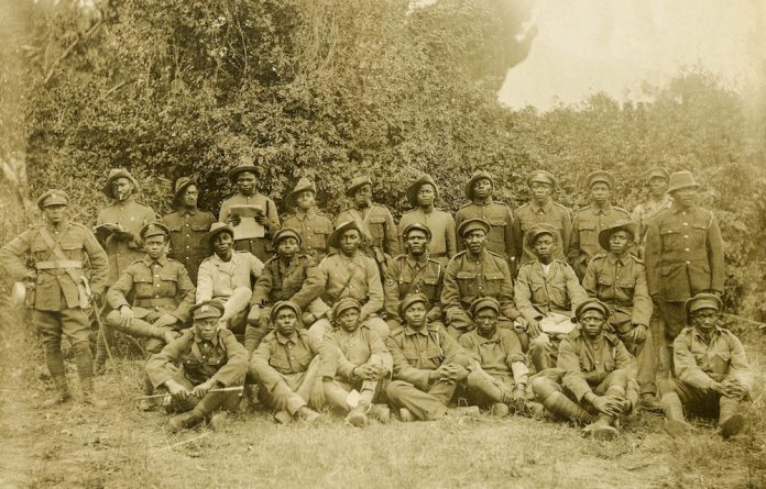 Some of the men of the SS Mendi.