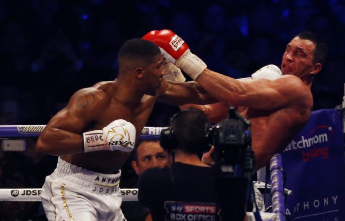 Klitschko got up from the second knockdown in the round but when Joshua started to pile on the pressure referee David Fields stepped in to stop it.
