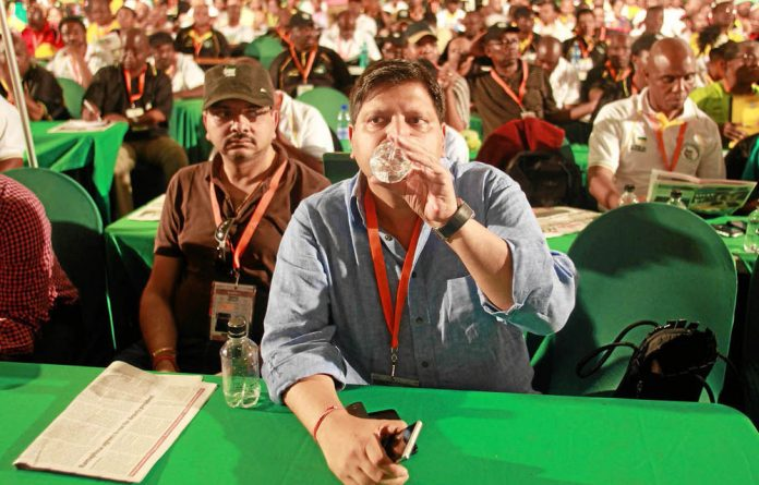 Atul and Rajesh Gupta at the ANC's elective conference in Mangaung in December.