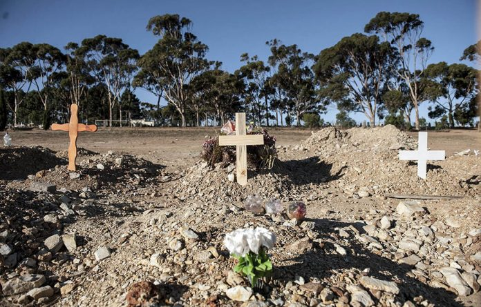 The final resting place of Anene Booysen
