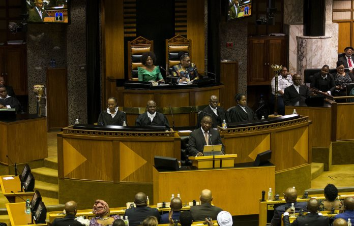 Leading the way: President Cyril Ramaphosa won applause at various moments of his State of the Nation address.