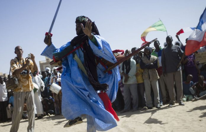 France's Foreign Minister Laurent Fabius said France wants African forces to take security responsibility for Timbuktu.