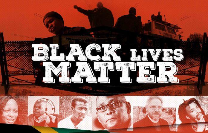 A poster for Black Lives Matter.