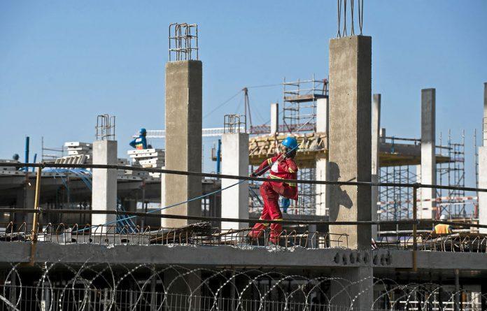 Boom time: The R1-billion Cradlestone Mall being built near Krugersdorp.