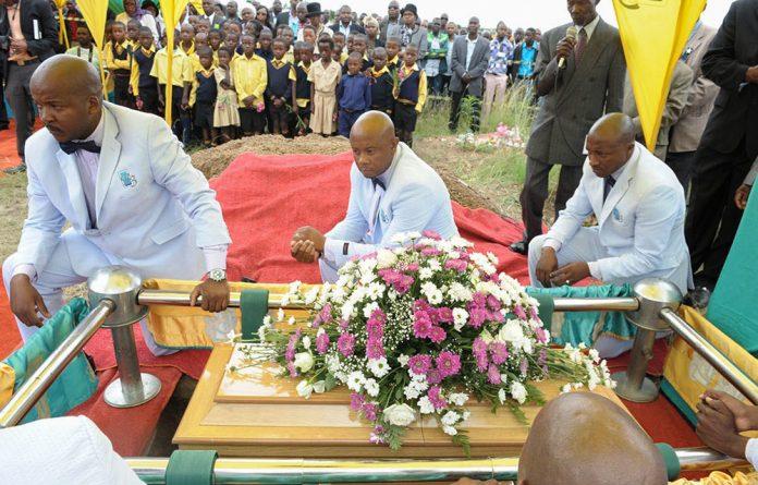 Life cut short: Michael Komape's funeral last year.