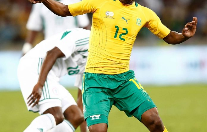Back for Bafana: Midfield maestro Reneilwe Letsholonyane.